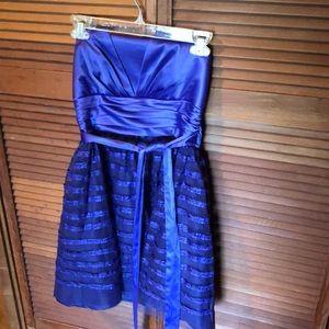 Purple Strapless Mini Dress